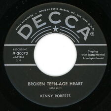 "KENNY ROBERTS 45: ""Broken Teen-Age Heart / I'm Looking For the Bully.. 1956 VG+"