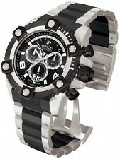 Invicta Reserve 0338 Arsenal Stainless Steel Black Dial Chronograph Mens Watch