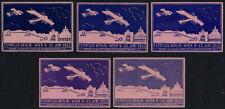 "Aviation & Zeppelin Vignette: 5 Vignettes for the "" Fernflug Berlin-Wien 9 #2531"