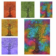 Wholesale Lot 10 Pcs Tapestry Tree Of Life Indian Wall Hanging Cotton Poster