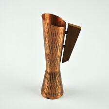 Vase Made Of Copper With Handle Teak - Design - Vintage - Messingboden -