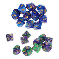 Set/20pcs Ten Sided D10 Digital Dice Party Gaming Dices DND TRPG Board Games