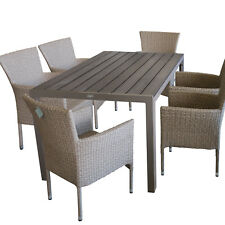 Gartengarnitur Gartenmöbel-Set Sitzgruppe Polywood Tisch 150x90cm + Gartensessel