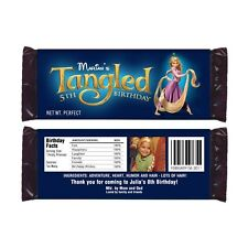 12 Tangled Movie Rapunzel Birthday Party Favors Personalized Candy Wrappers