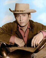 "MICHAEL LANDON LITTLE JOE CARTWRIGHT BONANZA 8x10"" HAND COLOR TINTED PHOTOGRAPH"