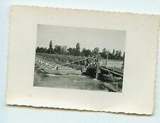 Deutsches Reich 2. Weltkrieg Foto Luftwaffe 1.(F.)/123 Soldatenauf Pontonbrücke