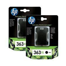 PACK OF 2 X GENUINE ORIGINAL HP 363XL BLACK C8719EE 2 YEAR GUARANTEE FASTPOSTAGE