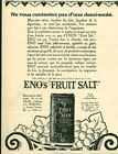Publicité ancienne produit pharmaceutique Eno's fruit issue du magazine 1925