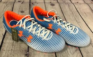 NEW Under Armour Women's Speed Force FG Color Electric Blue White Citrus Size 7