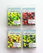 100 NEW 3/8 oz Round Jigheads Jigs Barb Seasky Fishing Lures Lot Assorted