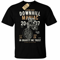 Downhill Maniac T-Shirt Mens extreme sport dirt bike biker motorbike racing