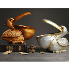 3D Resin Statue Pelican Figurine Decorative Ornament for Home Office Decor