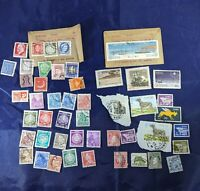 49 Worldwide Stamps from around The World- Ireland, Denmark, Russia, India other