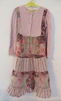 hübsches Kleid Gr. 134 rosa gemustert Langarm Mädchen Mode Kleidung Mädchenkleid