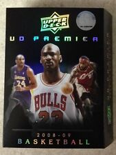 Michael Jordan Kobe Bryant LeBron James 2008-09 UD Premier Box Cover NO CARDS