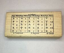 A Stamp in Hand German Letters Alphabet Table Gothisch Gothic Rubber Stamp F1899