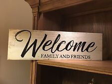 Welcome Sign Rustic Front Door Porch Shabby Wooden distressed farmhouse style