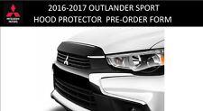 MZ314952 Genuine Mitsubishi 2016 Outlander Sport Hood Protector Wind Deflector