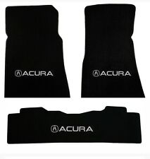 NEW! 2007-2013 Black Carpet Floor Mats Acura MDX Silver Embroidered Logo 3pc set