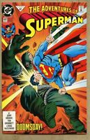 Adventures Of Superman #497-1992 nm- 9.2 Doomsday Battle 1st STANDARD cover