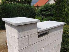Mauerabdeckung Naturstein grau/ Granit  Abdeckplatte Mauer Pfeilerabdeckung 4cm