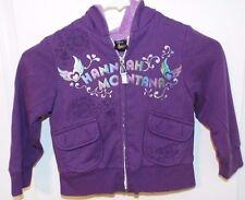 Disney Hannah Montana Girls Hooded Purple Zipped Jacket 5/6, 2 Pockets, Soft