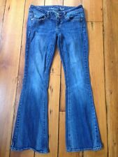 American Eagle Stretch Artist Low Rise Flared Dark Wash Womens Jeans 0 Short 28""