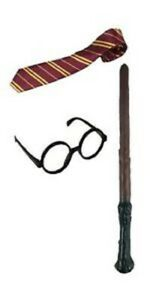 HALLOWEEN FANCY Dress up Harry Potter Children's Scarf Wand Glasses Scarf & Tie