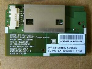 GENUINE NEW LG WiFi/BLUETOOTH PCB PART NO. EAT62093301 - SEE LISTING FOR MODELS