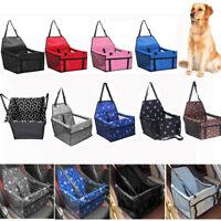 Pet Dog Cat Travel Car Seat Carrier Belt Booster Basket Folding Bag Kennel Mat
