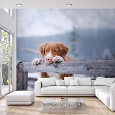 VINYL FOTOTAPETE Tapete Wandbilder XXL Flur Hund Landschaft WINTER 3405