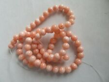 """Genuine Lt Salmon Pink Coral Beads 5mm Round All Natural - 16"""" Strand - 78 Beads"""
