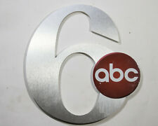 Channel 6 ABC Sign Number Letters Plastic VTG Letter TV Station Philadelphia PA