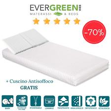 Evergreenweb - Materasso lettino o Culla 60x120 per Bambini alto 12 cm Cusc...