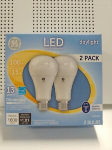 GE 1600 Luméns LED Lightbulb 2pack 100w Replacement 15w General Purpose