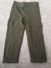 New Girls Cargo Capri Army Green Soft Pants Size 6