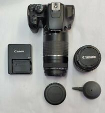 Canon EOS Rebel XS DLSR Camera W/ Canon EF-S 18-55mm and 75-300 Zoom Lens.