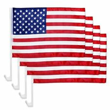 "4pcs USA AMERICAN Car Flag Patriotic Car Truck Window Clip Flag 18""x12"""
