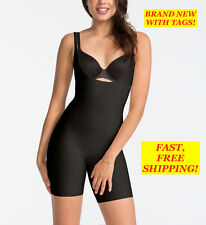SPANX Trust your THINSTINCTS Open-Bust Mid-Thigh Bodysuit Black SMALL S/P 10021R