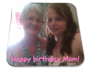 Personalised Printed Coaster, your own photo, Mother's Day gift mum nanny
