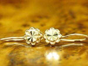 14kt 585 Rose Gold Earrings IN Flower Shape /Blumenmuster/Earrings/2,7g