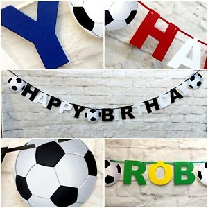 Personalised Football Premier Birthday Bunting Party team FC Banner League1st