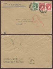 Nigeria Ebute Metta 1940 Segunda Guerra Mundial censor 12 de Macaulay sobre.. máquina cancelar el tránsito