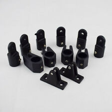 "Black 12Pcs Kit Boat Parts Nylon Fittings Hardware Set 7/8"" For 3 Bow Bimini Top"