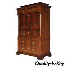 French Empire Flame Mahogany Drop Front Secretaire Abattant Secretary Desk