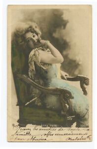 c 1903 Music Hall Cabaret ANNA HELD undivided back French theater photo postcard