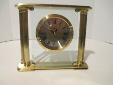 Howard Miller Athens 613-927 Mantle Heavy Brass Desk Table Clock