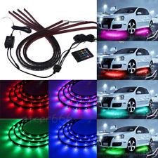 4 × Under Car RGB LED Strip Tube Underbody Underglow Glow Neon Light System