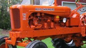 Allis Chalmers  WD45 Decal Set , Black Lettering Aftermarket