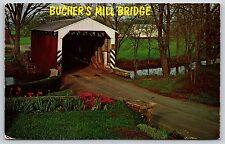 Bucher's Mill Covered Bridge Reamstown, Pennsylvania Lancaster County Chrome